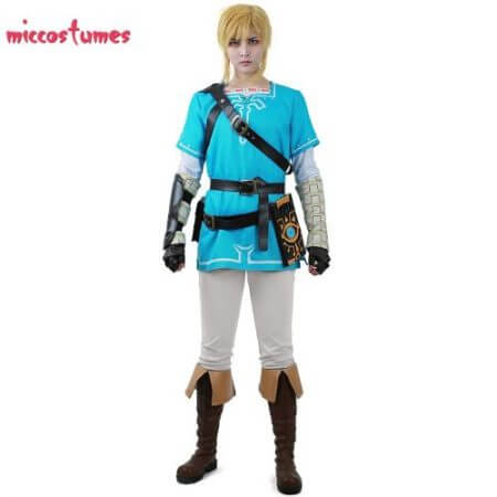 Link Cosplay Costume Male Outfit Cloak The Legend of Zelda: Breath of the Wild 1