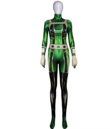 High quality 3D Printed Boku no Hero Academia Froppy Cosplay Costumes Pro Hero Tsuyu Asui Hero Academia Zentai Bodysuit 2