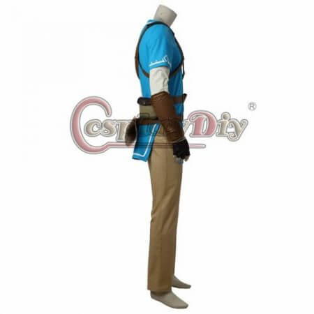 Cosplaydiy The Legend of Zelda Breath of the Wild Link Cosplay Costume Adult Men Halloween Carnival Outfit Full set Custom Made 3