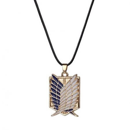 Japanese Anime Attack on Titan Necklace Wings of Liberty Shingeki No Kyojin Leather Chain Gold Silver Pendant Accessories Women 1