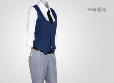 Assassination Classroom Ansatsu Kyoushitsu Shiota Nagisa Cosplay Costumes Unisex Clothes Uniform(Waistcoat + Shirt + Tie + Pant) 2