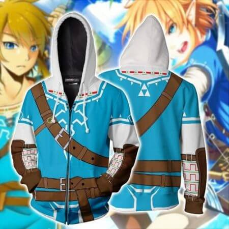 2019 Autumn Winter 3D Print Legend of Zelda Sweatshirts Hoodies Fashion Cosplay Zipper hooded Jacket clothing