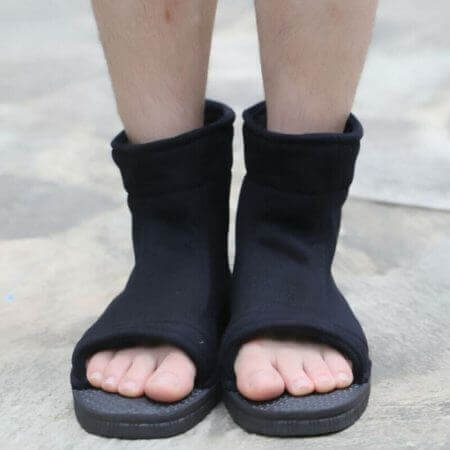 Naruto Cosplay Shoes Akatsuki Nanja Uzumaki Naruto Sakura Sasuke Black Blue Cotton Soft Sandals Ninja Boots Kakashi Shoes 5