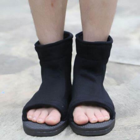 Naruto Cosplay Shoes Akatsuki Nanja Uzumaki Naruto Sakura Sasuke Black Blue Cotton Soft Sandals Ninja Boots Kakashi Shoes 5