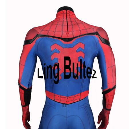 Ling Bultez High Quality Spiderman Homecoming Cosplay Costume 2017 Tom Holland Spider Man Suit 2017 Homecoming Spiderman Costume 2