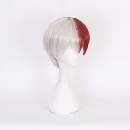 My Hero Academia Boku no Hiro Akademia Shoto Todoroki Shouto White And Red Head Costume Cosplay Wig Accessories 2