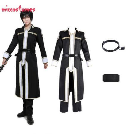 Sword Art Online Alicization Kirigaya Kazuto Kirito Cosplay Costume Uniform Men Halloween Uniform Outfit