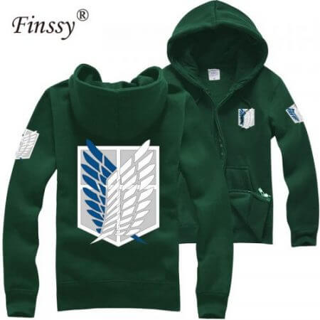 Japan shingeki no kyojin Cosplay Costume Attack on titan hoodies for Men Women Coat Couple Cotton