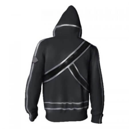 Anime Sword Art Online Hooded Sweater Cosplay Costume Kirigaya Kazuto Kirito Hoodies Sweatshirt Zipper Jacket Coat For Men Women 4