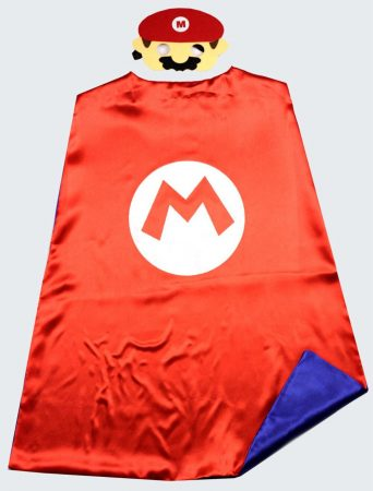 Super Mario Bros cape + mask kids Party cosplay Superman capes for birthday party favor 1