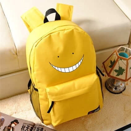 Korosensei Women Cute Backpack Anime Bookbag Assassination Classroom School Bags for Teenagers Girls Anime Travel Bagpack Rugzak