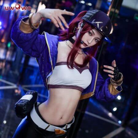 UWOWO Sexy Cosplay VERSION Game League Of Legends K/DA Akali Cosplay Costume For Women 3