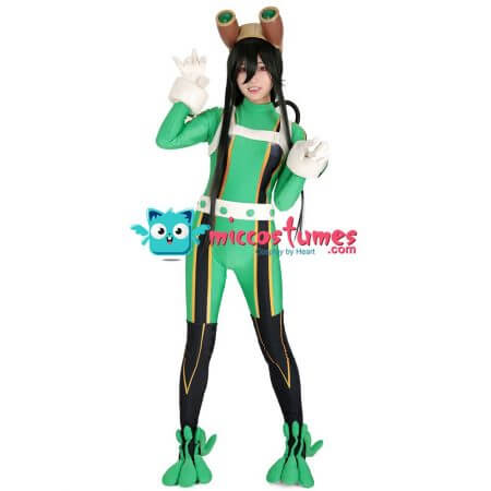 My Hero Academia Froppy Tsuyu Asui Cosplay Jumpsuit Costume Fighting Suit 1