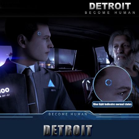 Detroit: Become Human Ring Circle Head LED Props Cosplay Connor RK800 Wireless Temple LED Light Kara State Scintillation Lamp 1