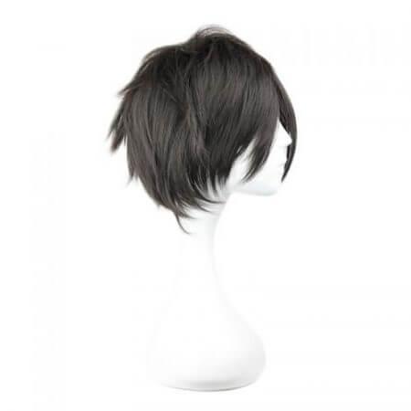 Sword Art Online Kirigaya Kazuto Wig SAO Kirito Short Black Heat Resistant Synthetic Hair Cosplay Wigs + Wig Cap 2