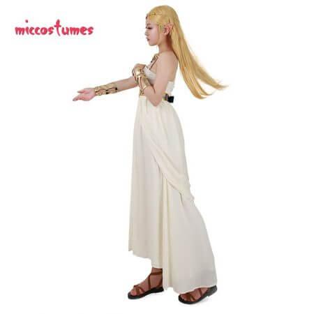 The Legend of Zelda: Breath of the Wild Princess Zelda White Dress Cosplay Costume 3
