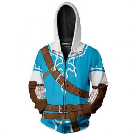 2019 Autumn Winter 3D Print Legend of Zelda Sweatshirts Hoodies Fashion Cosplay Zipper hooded Jacket clothing 1