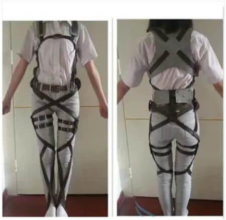 Attack On Titan Japanese Anime Shingeki No Kyojin Recon Corps Harness Belts Hookshot Cosplay Costume Adjustable Belts