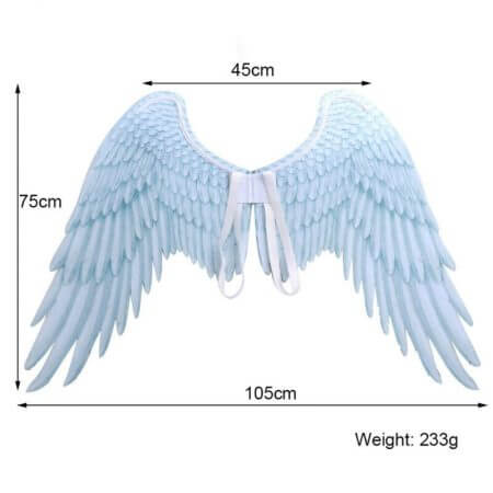 Halloween 3D Angel Wings Mardi Gras Theme Party Cosplay Wings For Children Adult Big Large Black Wings Devil Costume 5