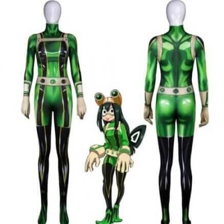 High quality 3D Printed Boku no Hero Academia Froppy Cosplay Costumes Pro Hero Tsuyu Asui Hero Academia Zentai Bodysuit