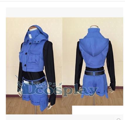 Assassination Classroom Shiota Nagisa Blue Cosplay Costume 2