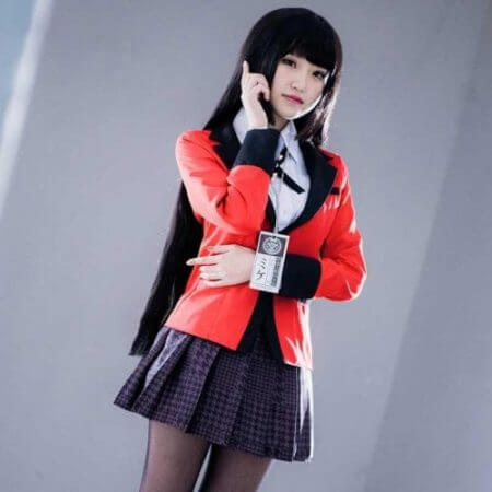 Anime Kakegurui Yumeko Jabami Cosplay Costume Japanese High School Uniform Halloween Party Cosplay Costumes For Women Girls 1
