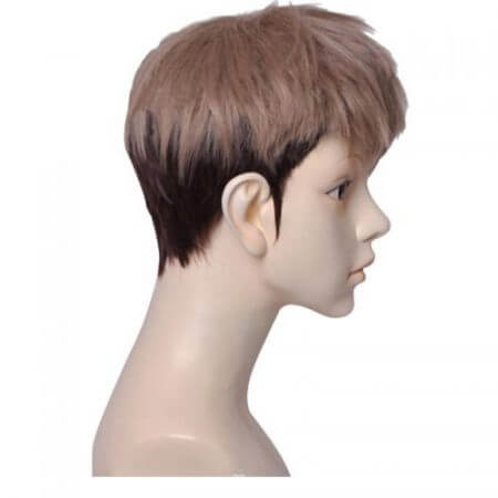Attack on Titan Jean Kirstein Short Layered Brown Mix Dark Root Synthetic Cosplay Wig+ Wig Cap