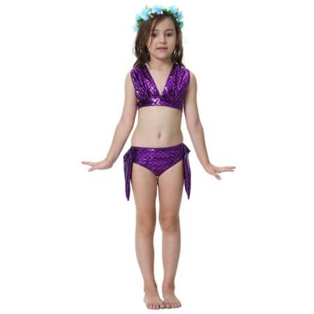 Swimmable Children Mermaid Tails With Monofin Fin Bikinis Set Girls Kids Swimsuit Mermaid Tail Cosplay Costume for Girl Swimming 5