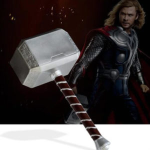 Cosplay Thor's Hammer 1:1 44cmThor Thunder Hammer Figure Weapons Model Movie Role Playing Safety PU Material Toy Kid Gift
