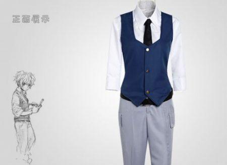 Assassination Classroom Ansatsu Kyoushitsu Shiota Nagisa Cosplay Costumes Unisex Clothes Uniform(Waistcoat + Shirt + Tie + Pant) 1