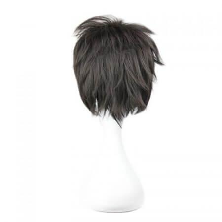 Sword Art Online Kirigaya Kazuto Wig SAO Kirito Short Black Heat Resistant Synthetic Hair Cosplay Wigs + Wig Cap 3