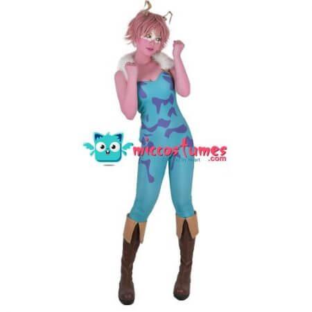 My Hero Academia Mina Ashido Cosplay Costume Jumpsuit Vest 1