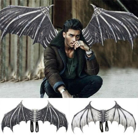 Cosplay adult children halloween carnival purim costume prop demon wings mask dragon bat wings for performance props  J6