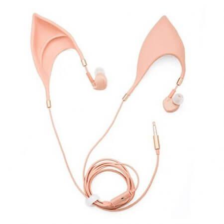 3.5mm Cosplay Elf Ear Shape In-Ear Earphone Spirit Fairy Girl Gift 1