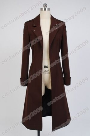 Attack on Titan Shingeki no Kyojin Eren Jaeger Rivaille Cosplay Costume Long Coat Jacket Cape 1
