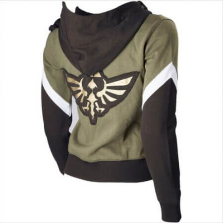 The Legend of Zelda Link Hoodie Zipper Coat Jacket Hooded Sweater Cosplay Costume For Men Women