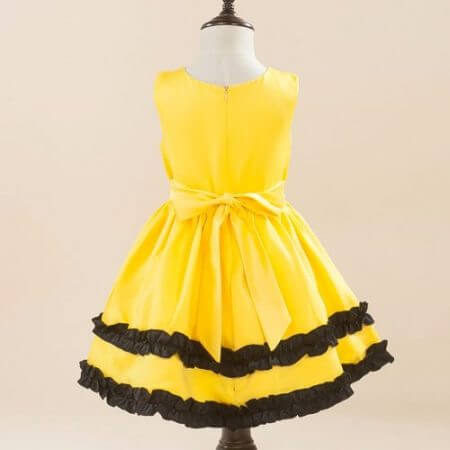 Girls Pikachu costume Cute Ball Gown Dress Kids Child Lovely Dress Costume Anime Cosplay Pokemon Go Costume Birthday Party Dress 4