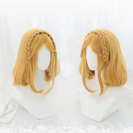 Game The Legend of Zelda Breath of the Wild Cosplay Wigs Princess Zelda Cosplay Wig Synthetic Wig Cosplay Accessories Short Hair 2