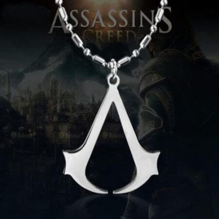 Assassins Creed Ezio Titanium Necklace Multicolor Stainless Steel Pendant Necklace