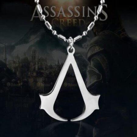 Assassins Creed Ezio Titanium Necklace Multicolor Stainless Steel Pendant Necklace