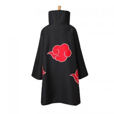 Anime Naruto Akatsuki Cloak Cosplay Costume Uchiha Itachi Ring Headband Women Men Gifts 2