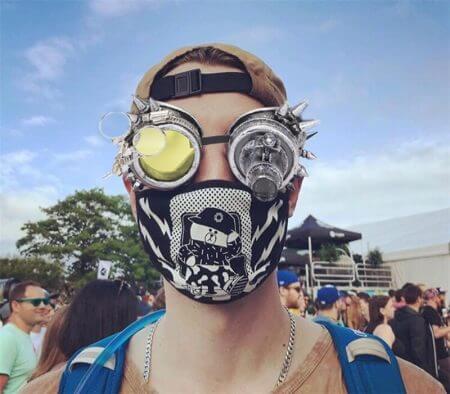 FLORATA Rivet Goggles Men Women Steampunk Vintage Round Sun Glasses Gothic Goggles Vintage Retro Punk Sunglass 3