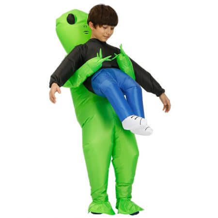 New Purim Scary Green Inflatable Alien costume Cosplay Mascot Inflatable Monster suit Party Halloween Costume for Kids Adult 4