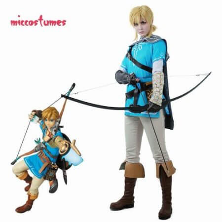 Link Cosplay Costume Male Outfit Cloak The Legend of Zelda: Breath of the Wild