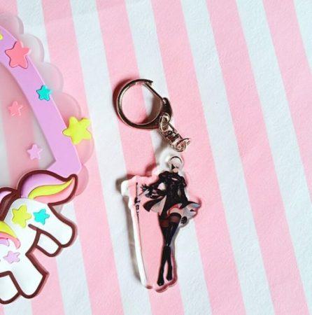 4 Pcs/lot Anime NieR Automata 2B acrylic Keychain keyring figure pendant toys gifts 1