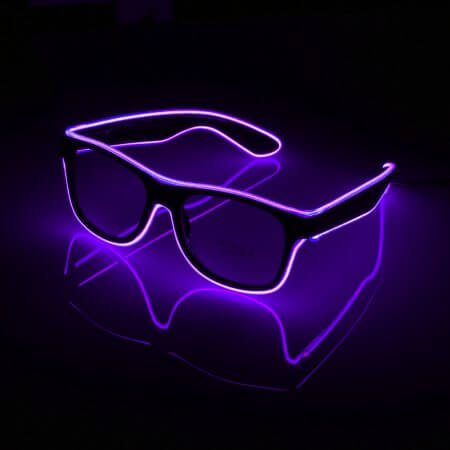 Flashing Glasses EL Wire LED Glasses Glowing Party Supplies Lighting Novelty Gift Bright Light Festival Party Glow Sunglasses 3