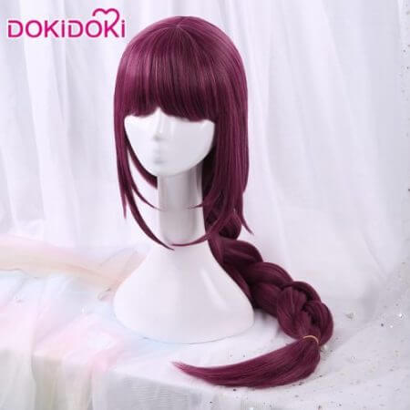 DokiDoki Game League of Legends Cosplay Wig Elderwood Ahri Cosplay Wig  Ahri Women Long Purple Hair League of Legends