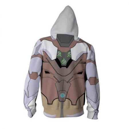 New OW Hooded Sweatshirts Genji DV.a Mercy Full Zip Thin Hoodies Cool Pullover Coat Jacket Cosplay Halloween Costume 2