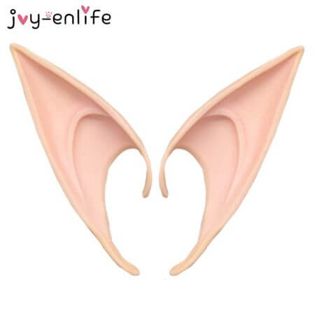 1Pair Mysterious Angel Elf Ears Fairy Cosplay Accessories Halloween Christmas Party Latex Soft Pointed Tips False Ears Props 2