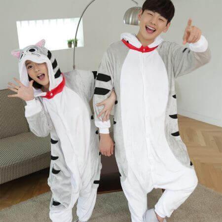 Women Men Kigurumi Unicorn Pajamas cat 4